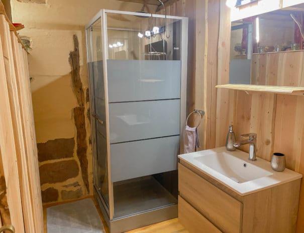 photo salle d'eau - chambre d'hôtes - les bruyères